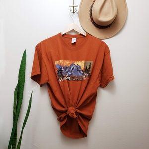 Vintage Grand Teton National Park Graphic t shirt
